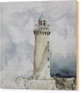ighthouse Kereon Ouessant island Britain Wood Print