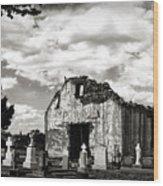 Iglesia Cementerio Wood Print