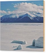 Igloo On Atlin Lake - Bc Wood Print