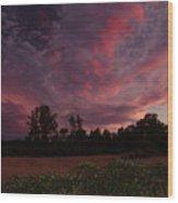 Igo Sunset Wood Print