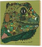 Iguana - Color Wood Print