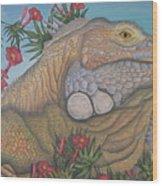 Iguana Iguana Wood Print