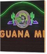 Iguana Mia Wood Print