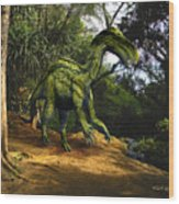 Iguanodon In The Jungle Wood Print