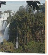 Iguazu Falls Panoramic View Wood Print