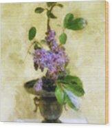 Ikebana Lilacs Wood Print