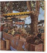 il mercato di St Paul Wood Print