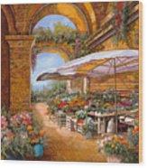 Il Mercato Sotto I Portici Wood Print