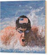 Il Nuotatore Wood Print