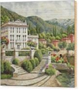 Il Palazzo Sul Lago Wood Print