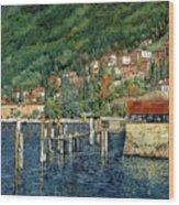 il porto di Bellano Wood Print by Guido Borelli