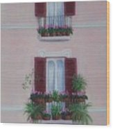 Il Terrazo In Roma  Piazza Navona Wood Print