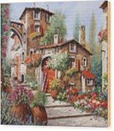 Il Villaggio Wood Print