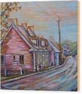 Iles D'orleans Quebec Village Scene Wood Print