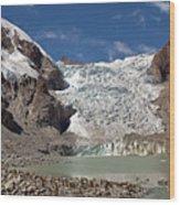 Illampu Glacier Lake Or Laguna Glacial Wood Print