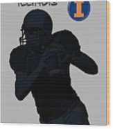 Illinois Football Wood Print