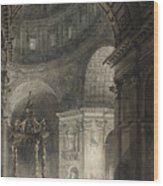 Illumination Of The Cross In St. Peter's On Good Friday, 1787 Wood Print