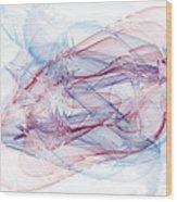 Illusions In Flights Of Mind Wood Print