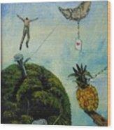 Illusions That Fall At Dawn Wood Print by Carlos Rodriguez Yorde