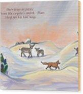 Illustrated Haiku 3 - Age 17 Wood Print