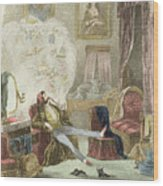 Illustration From Visitation Of A London Exquisite To His Maiden Aunts In The Country Wood Print