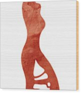 Illustration Of A Fashion Model Wood Print
