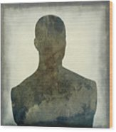 Illustration Of A Human Bust. Silhouette Wood Print