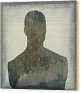 Illustration Of A Human Bust. Silhouette Wood Print by Bernard Jaubert