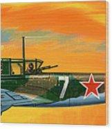 Ilyushin II 2m3 Russian Ground Attack Aircraft Wood Print