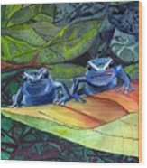 I'm In Love With A Big Blue Frog Wood Print
