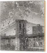 Im Selling The Brooklyn Bridge Or At Least A Photo Of It  Wood Print