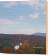 Image Included In Queen The Novel - New England Church Enhanced Wood Print