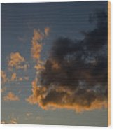 Image Of Clouds At Sunset Wood Print