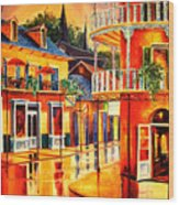 Images Of The French Quarter Wood Print