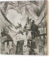 Imaginary Prison Wood Print