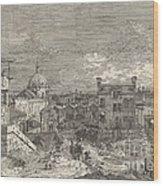 Imaginary View Of Venice Wood Print