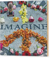 Imagine Peace Wood Print by Sharla Gentile
