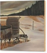 Imaginery Sleigh Ride Wood Print