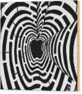 iMaze Apple Ad Maze Idea Wood Print
