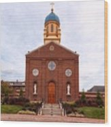 Immaculate Conception Chapel - University Of Dayton Wood Print