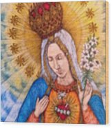 Immaculate Heart Of Virgin Mary Wood Print
