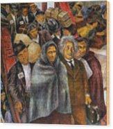 Immigrants, Nyc, 1937-38 Wood Print