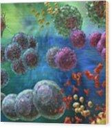 Immune Response Antibody 4 Wood Print