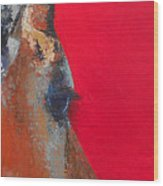 Impala On Crimson Close-up Wood Print