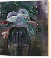 Impatient Painterly Floral Wood Print