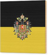 Habsburg Flag With Imperial Coat Of Arms 1 Wood Print