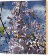 Imperial Tree Flowers Wood Print