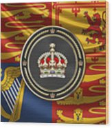 Imperial Tudor Crown Over Royal Standard Of The United Kingdom Wood Print