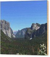 Imposing Alpine World - Yosemite Valley Wood Print