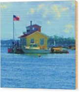 Impossible House Boat  - New York Wood Print